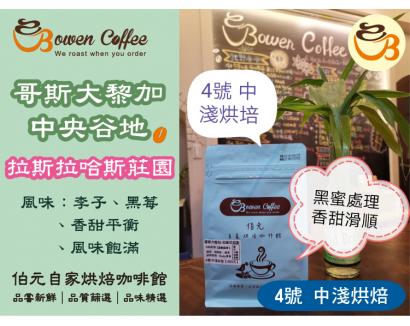 【伯元咖啡】中淺烘焙-哥斯大黎加-拉斯哈拉斯莊園【黑蜜處理】半磅咖啡豆 手工挑豆 新鮮烘焙